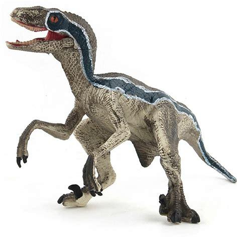 Jurassic Blue Velociraptor Dinosaur Model Toy Home ...