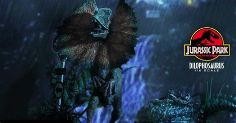Jurassic Park Dilophosaurus Gets a Deadly Statue with ...