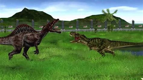 Jurassic park operation Genesis fights compilation   YouTube