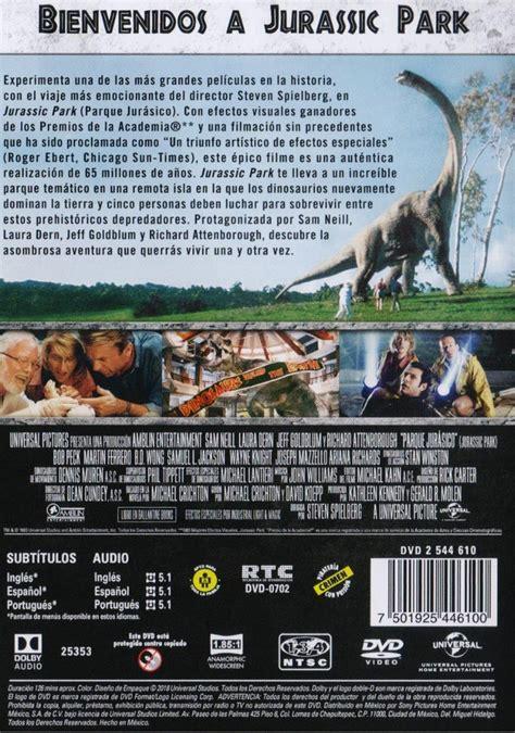 Jurassic Park Parque Jurasico 1 Uno Pelicula Dvd   $ 129 ...