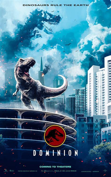 Jurassic World DOMINION Poster REXY  T REX  2021