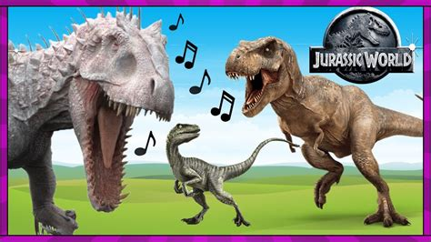 JURASSIC WORLD ECHO  Dinosaur Song Video with REAL LIFE T ...
