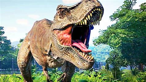 JURASSIC WORLD EVOLUTION Gameplay Trailer  2018  Dinosaurs ...