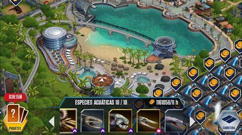 JURASSIC WORLD THE GAME   Todos los dinosaurios marinos ...
