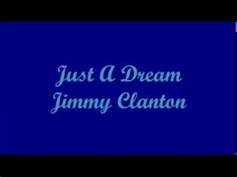 Just A Dream   Jimmy Clanton  Lyrics    YouTube