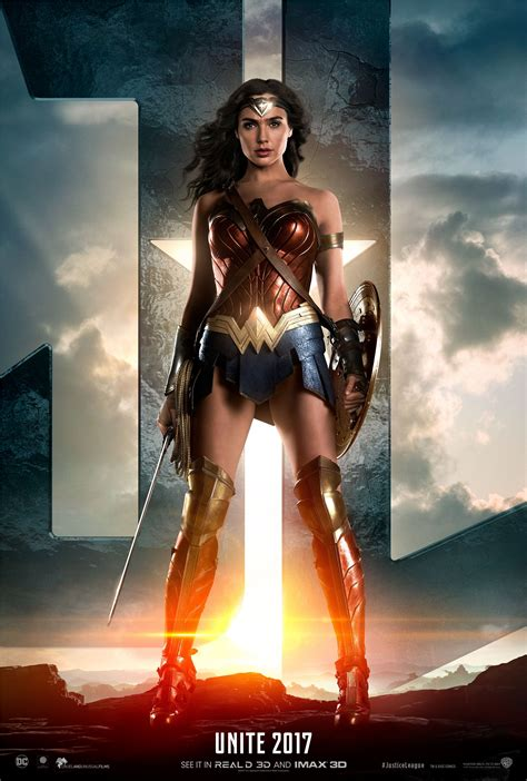 Justice League  2017  Poster   Gal Gadot as Wonder Woman ...