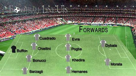 Juventus 2 0 Sevilla  Juventus Starting Lineup  Champions ...