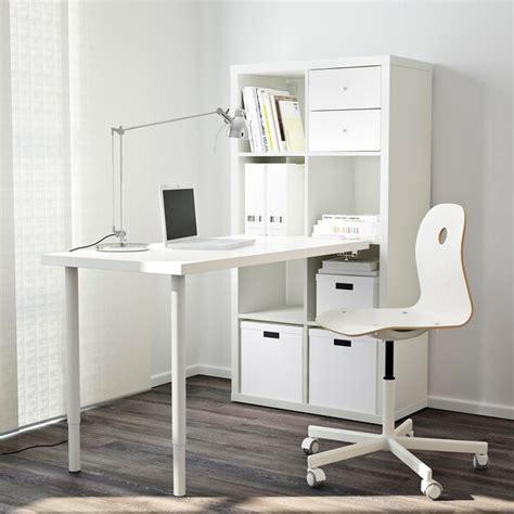 KALLAX Combinación escritorio   blanco   IKEA