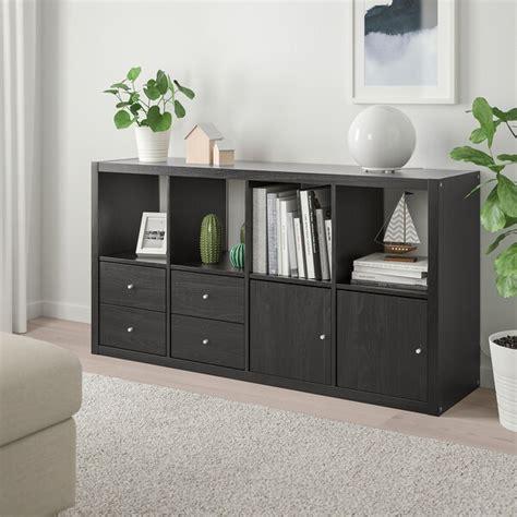 KALLAX Estantería con accesorios   negro marrón   IKEA
