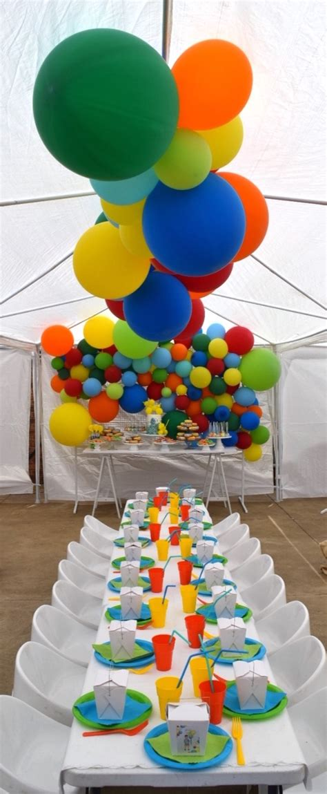 Kara s Party Ideas Colorful Balloon Birthday Party | Kara ...
