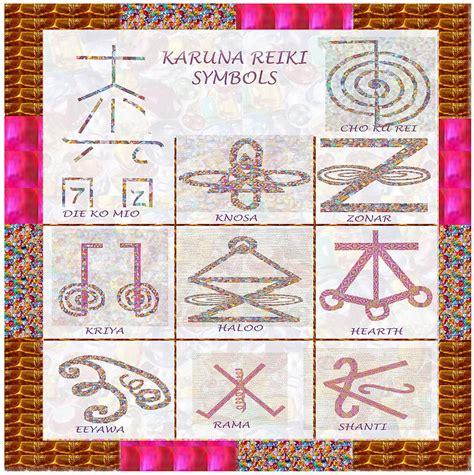 Karuna Reiki Healing Power Symbols Artwork With Crystal ...