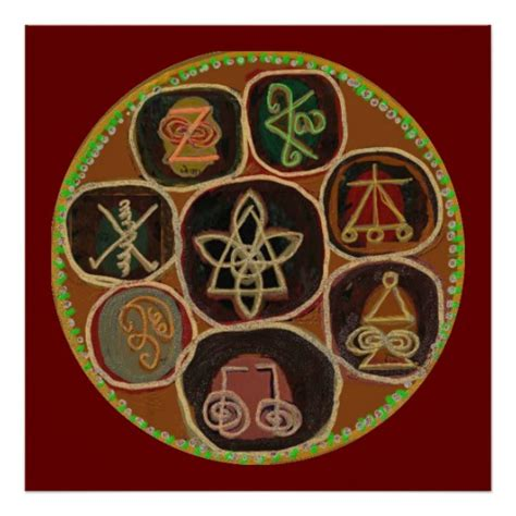KARUNA Reiki Healing Symbols Apr 2011 Poster | Zazzle