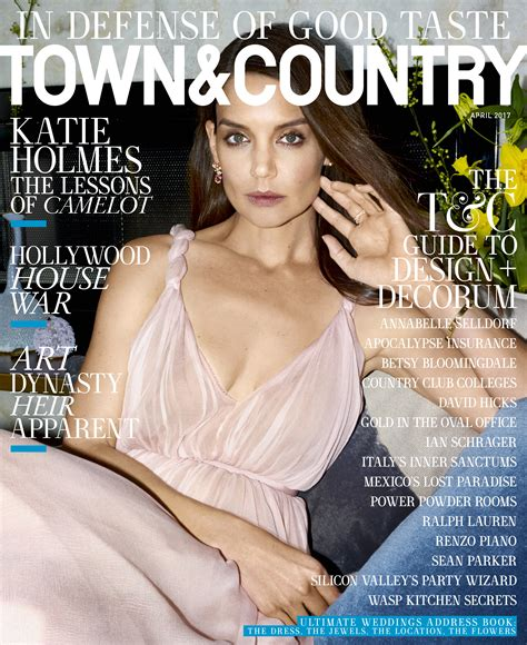 Katie Holmes Defends Good Taste on the Cover of Town ...