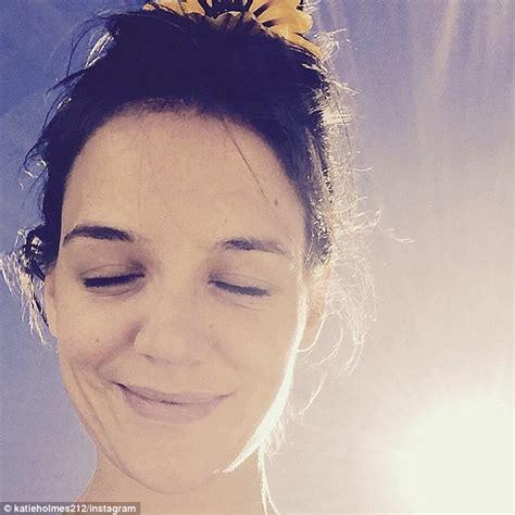 Katie Holmes shares radiant makeup free selfie on ...