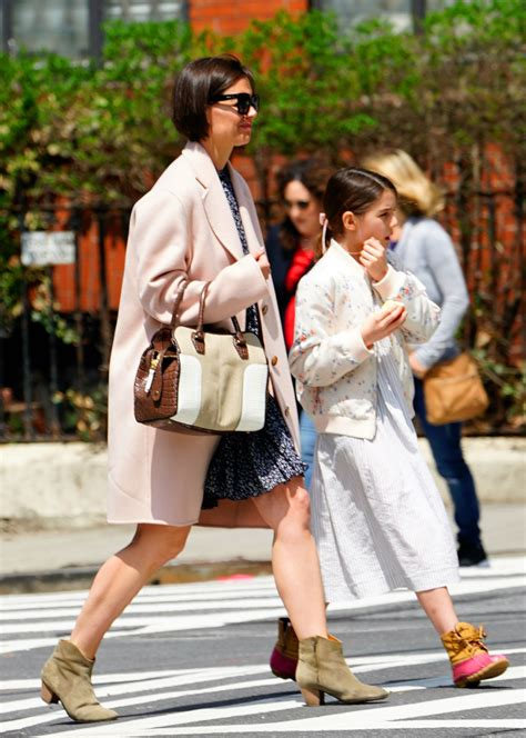 Katie Holmes & Suri Cruise Rock Florals & Boots in NYC ...