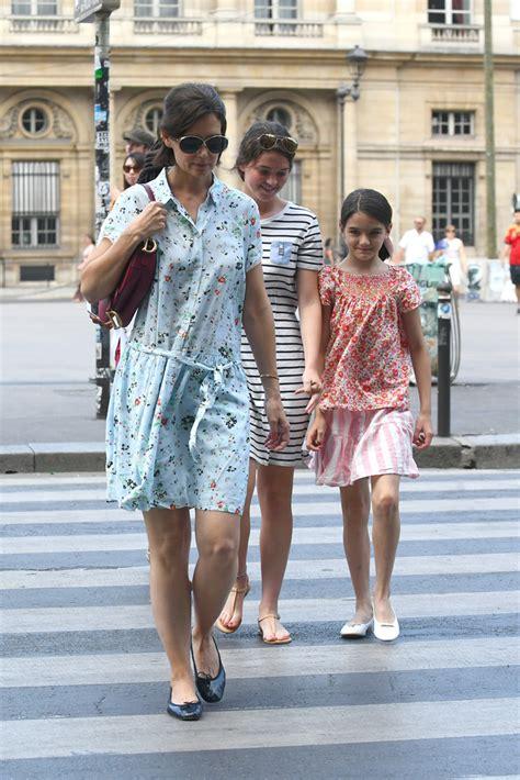 Katie Holmes + Suri Cruise Twinning: Floral Dresses ...