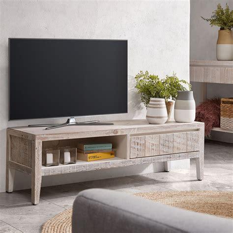 Kave Home Mueble Tv Words 120 cm, en Madera   Blanco ...