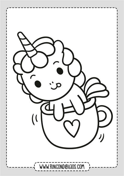 Kawaii Dibujos de Unicornios Colorear   Rincon Dibujos