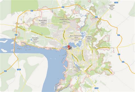 Kazan Map and Kazan Satellite Image