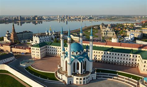 Kazan   tourist sights on the map