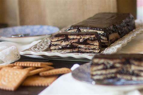 Keller kuchen. Tarta de chocolate y galletas. Receta ...