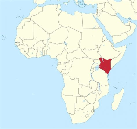 Kenia áfrica mapa   Mapa de áfrica mostrar Kenya  África ...