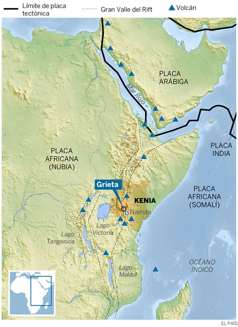 Kenia: Una grieta kilométrica recuerda que África se está ...