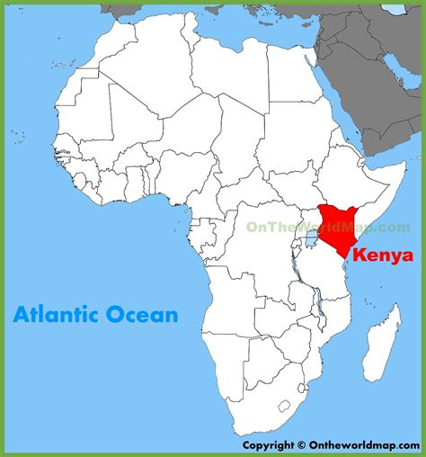 Kenya location on the Africa map