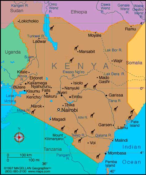 Kenya Map   Infoplease