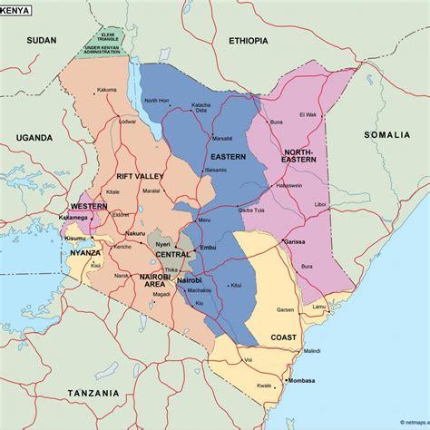 kenya political map – Netmaps. Mapas de España y del mundo