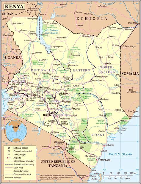 Kenya roads map   Kenya road map detailed  Eastern Africa ...