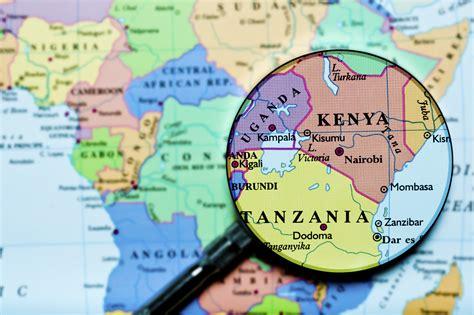 Kenya Tanzania Africa Uganda map   Global Trade Review  GTR