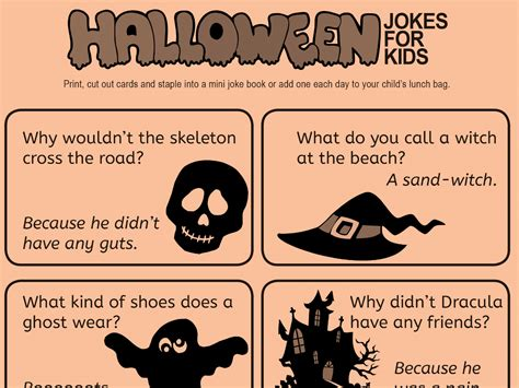 Kid  Friendly Jokes for Halloween   Worksheets ...