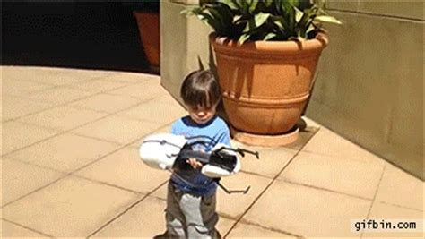 Kid Playing With Real life Portal Gun  Action Movie Kid ...