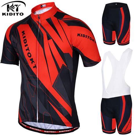 KIDITOKT anti UV Pro verano ciclismo Jersey hombres MTB ...