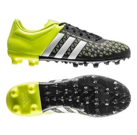 Kids Boys Adidas Ace 15.3 FG Black Yellow Moulded Studs ...