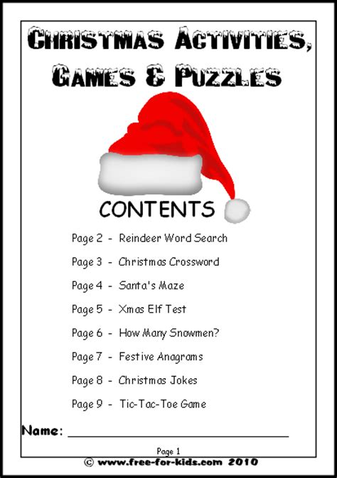 Kids  Christmas Activities, Games and Worksheets
