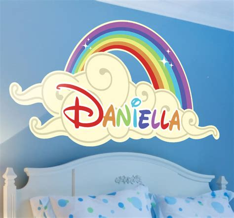 Kids Personalised Rainbow Cloud Sticker   TenStickers