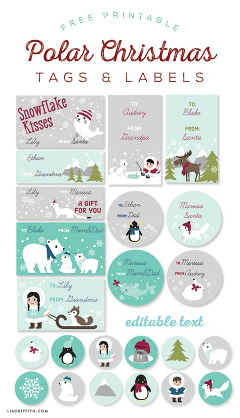 Kids Polar Christmas Labels and Tags | Worldlabel Blog