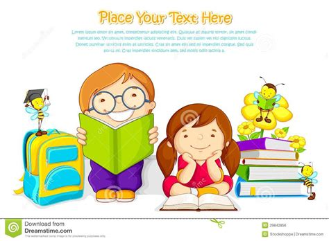 Kids studying stock vector. Illustration of insect ...
