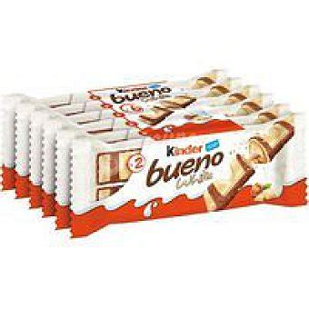 Kinder Bueno Barrita de chocolate blanco Pack 6 x 39 g