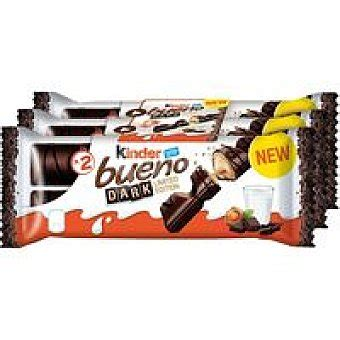 Kinder Bueno Barrita de chocolate negro Pack 3 x 43 g