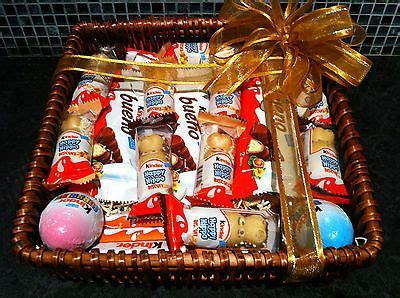 Kinder chocolate gift hamper basket | Chocolade