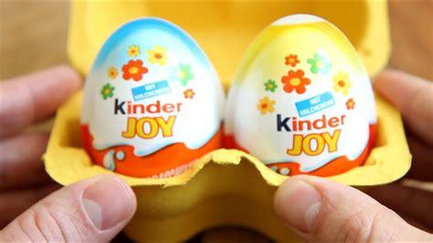 Kinder Joy Surprise Two Eggs   Two Surprise Toys   YouTube