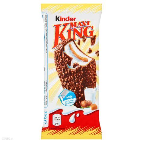 Kinder Maxi King Wafel z mlecznym i karmelowym nadzieniem ...