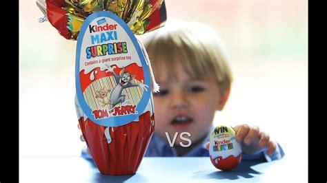Kinder MAXI vs Kinder Surprise Egg s   YouTube