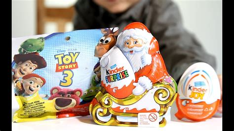 Kinder Santa Chrismas 2013 Edition and Toy Story 3 ! of ...