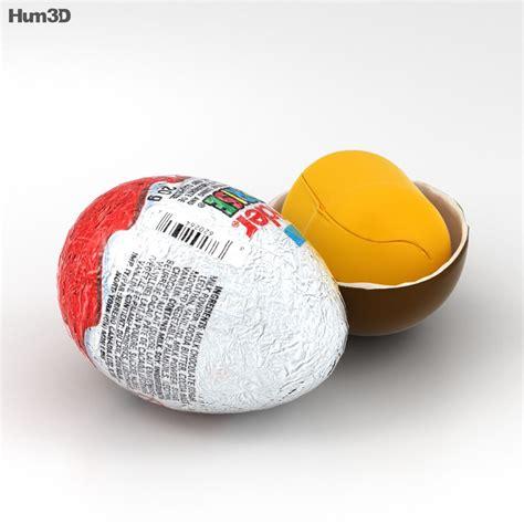 Kinder Surprise 3D model   Food on Hum3D