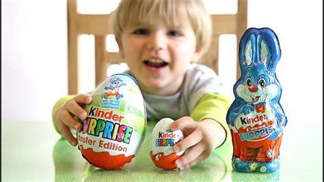Kinder Surprise BIG Egg vs Kinder Surprise Bunny   YouTube