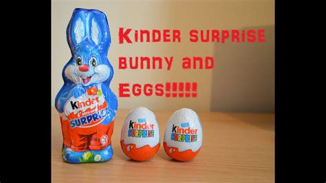 Kinder Surprise Bunny Egg unboxing unwrapping review ...